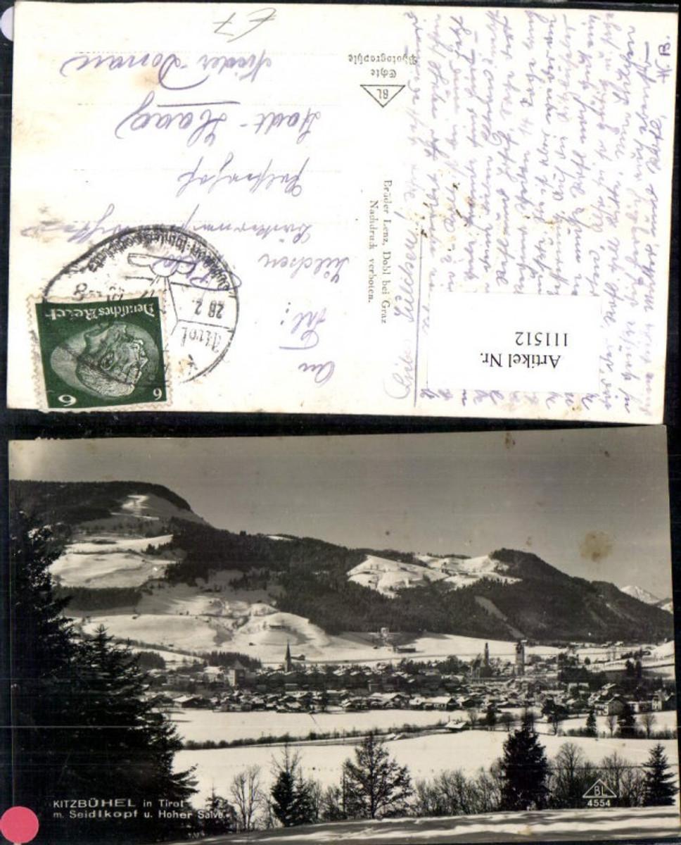 111512,Kitzbühel Seidlkopf u. Hoher Salve 1940 Bezirk Kitzbühel günstig online kaufen