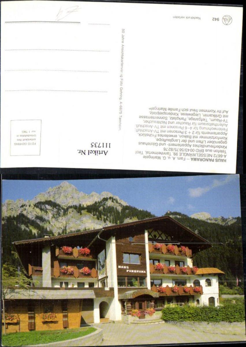 111735,Haus Panorana Fam. Maringele Nesselwängle Tannheimertal Bezirk Reutte günstig online kaufen