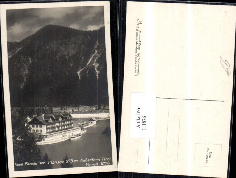 111876,Hotel Forelle a. Plansee Ausserfern Schiff Bezirk Reutte günstig online kaufen