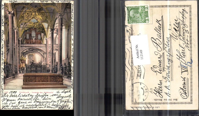 112149,Innsbruck Inneres d. Hofkirche Altar 1909 günstig online kaufen
