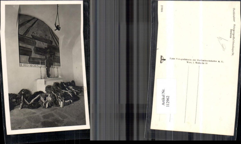 112962,Osttiroler Kriegergedächtniskapelle Inneres Virgen Bezirk Lienz günstig online kaufen
