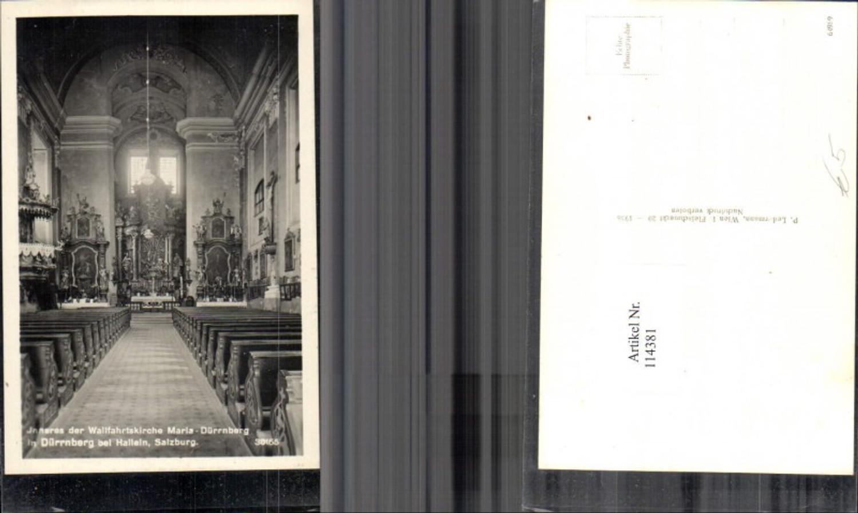 114381,Inneres der Walfahrtskriche Maria Dürrnberg bei Hallein Salzburg günstig online kaufen