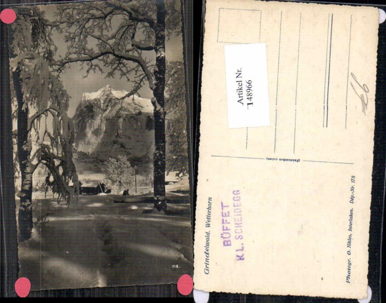 148966,Grindelwald m. Wetterhorn 1935 seltene Fotokarte Kt Bern  günstig online kaufen