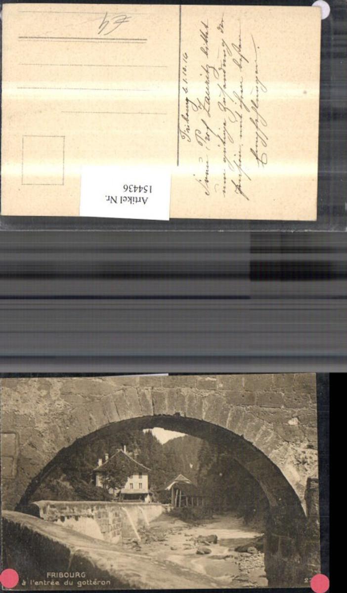 154436,Fribourg a l entree du gotteron Ansicht Brücke Freiburg Kt Freiburg  günstig online kaufen