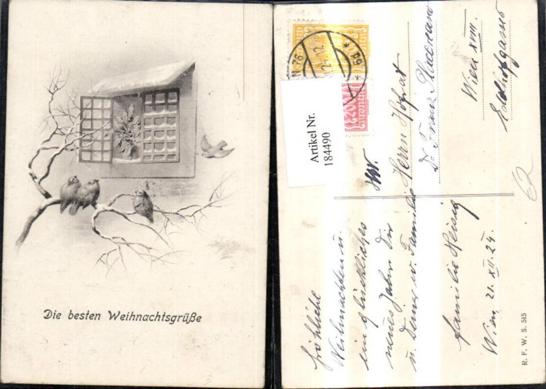 184490,Weihnachten Vögel v. Fenster  günstig online kaufen