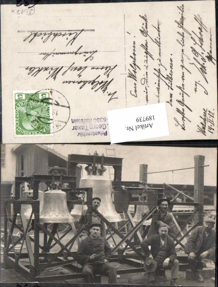 189739,FotoAK Walchsee Glocken Monteure Kirchglocken 1912  günstig online kaufen