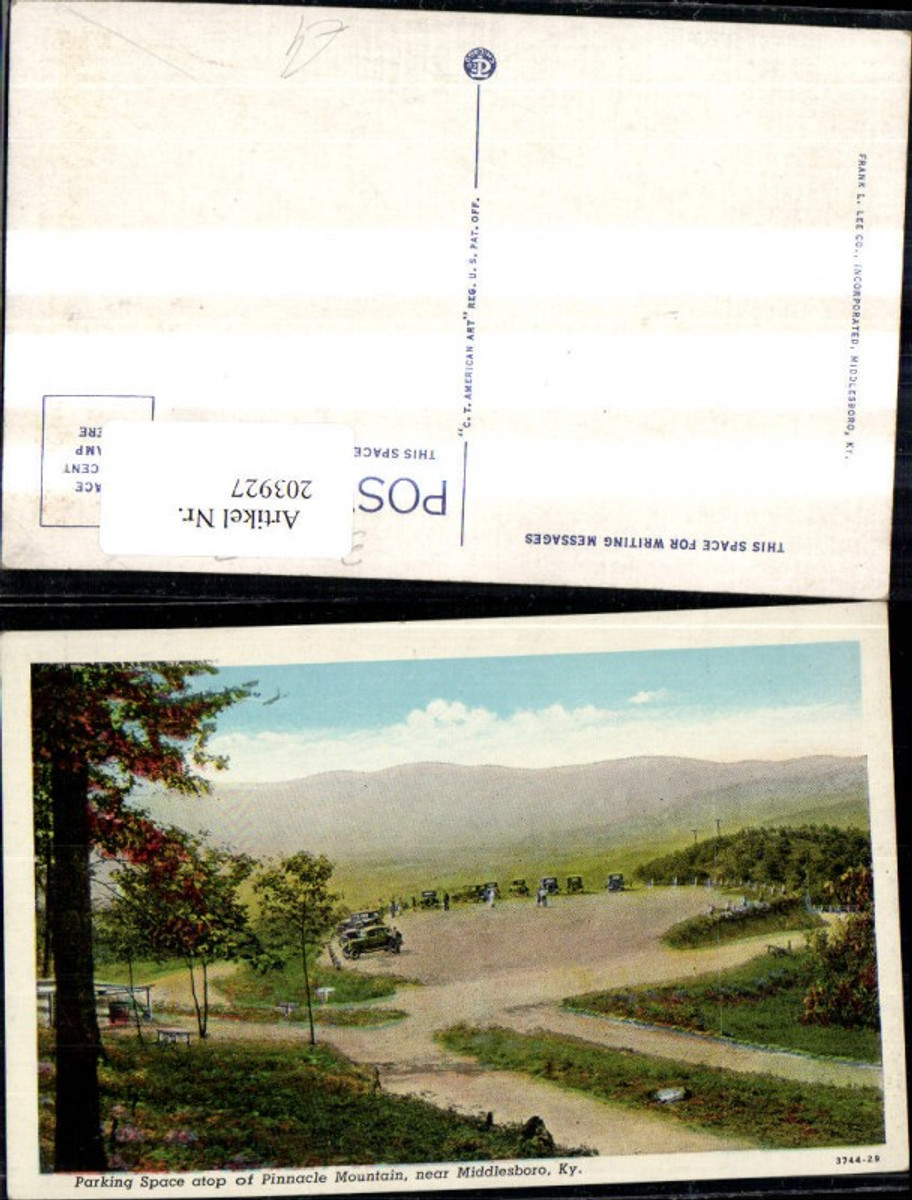 203927,Kentucky near Middlesboro Parking Space atop of Pinnacle Mountain Parkplatz Automoible  günstig online kaufen