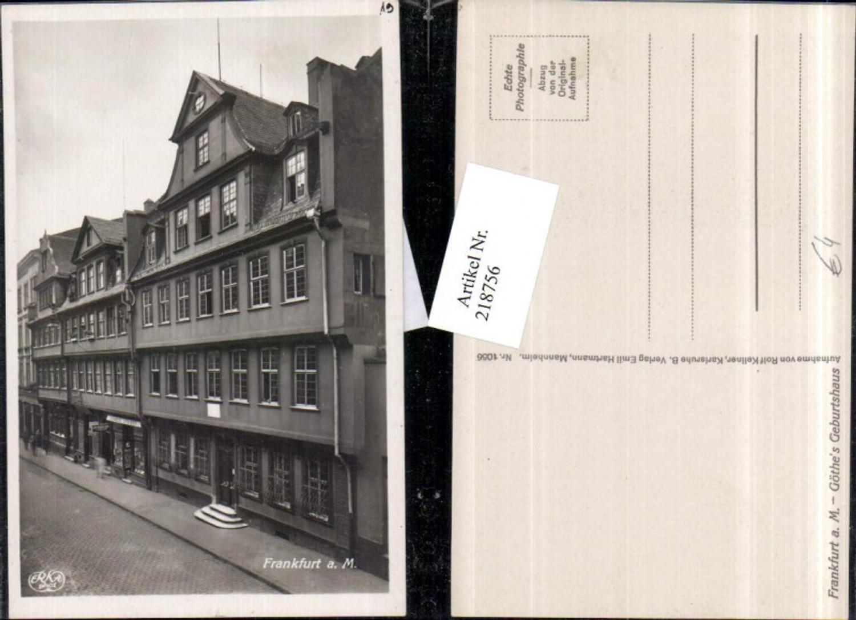 218756,Frankfurt a. Main Goethes Geburtshaus Hausansicht günstig online kaufen
