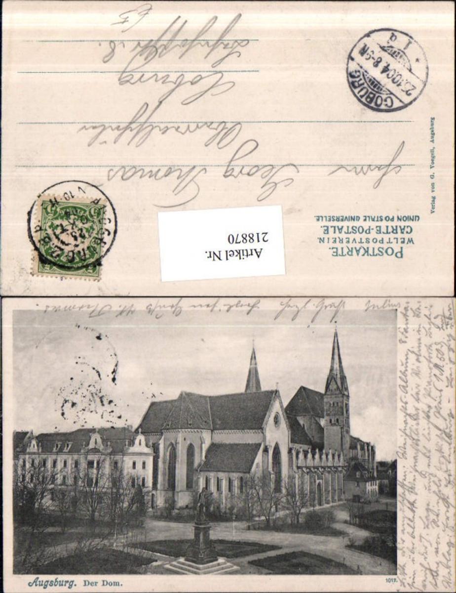 218870,Augsburg Der Dom Kirche m. Denkmal günstig online kaufen