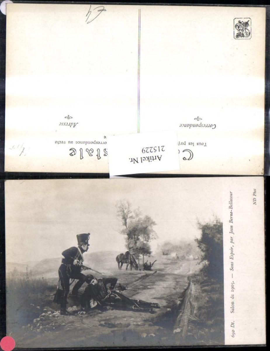 215229,K.k. Soldaten Verwundeter Soldat a. Weg Pferd Salon 1905 Sans Espoir par Jean Berne-Bellecour günstig online kaufen