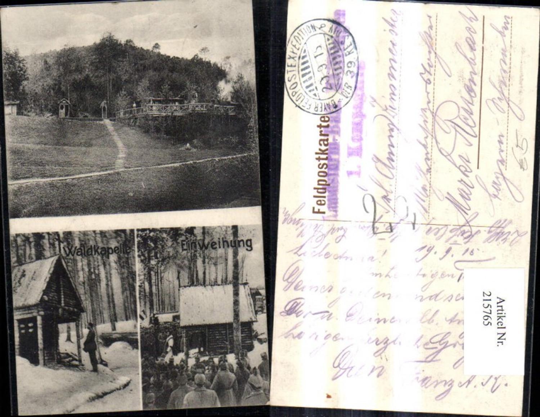 215765,Mehrbild Ak Waldkapelle Einweihung K.k. Soldaten Pickelhaube günstig online kaufen
