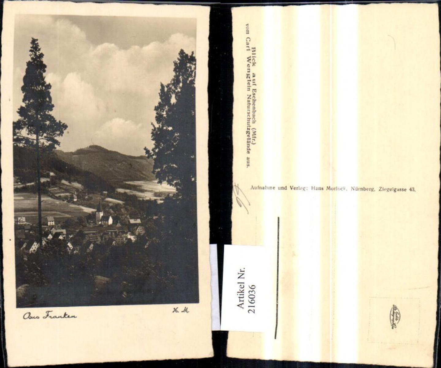 216036,Foto Ak Aus Franken Blick a. Eschenbach  günstig online kaufen