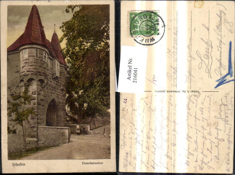 216041,Iphofen Einersheimertor 1926 günstig online kaufen