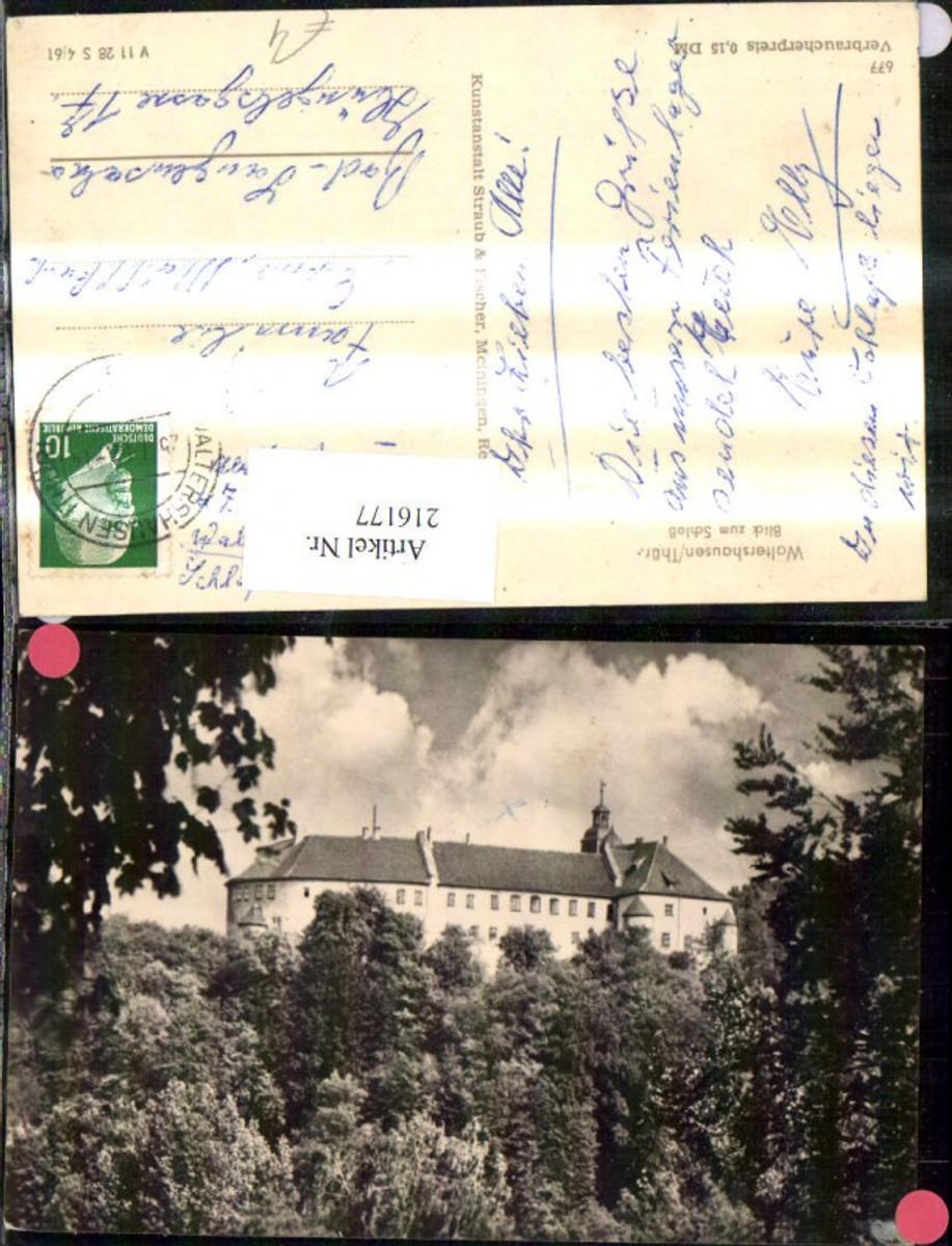 216177,Waltershausen Thüringen Blick z. Schloß  günstig online kaufen