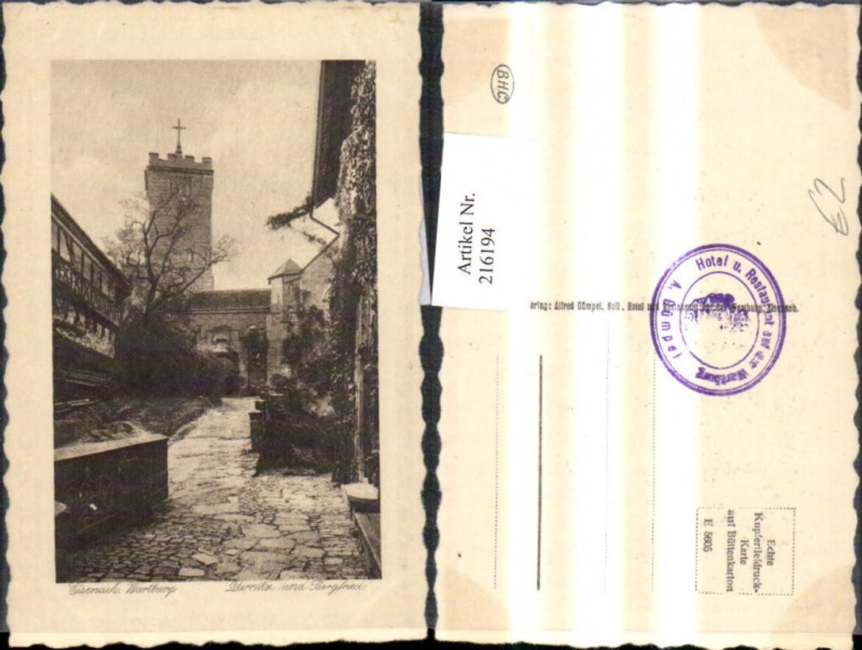 216194,Eisenach Wartburg Dirnitz Bergfried Präge Passepartout günstig online kaufen