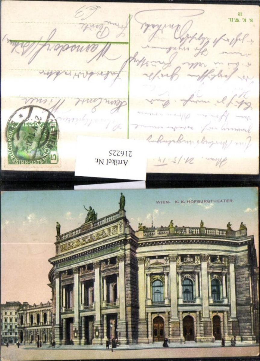 216225,Wien 1 K. k. Hofburgtheater Burgtheater Theater  günstig online kaufen