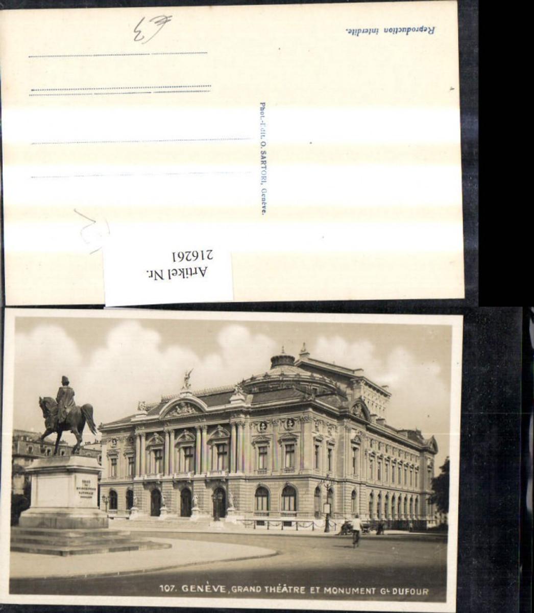 216261,Geneve Genf Grand Theatre et Monument Gl. Dufour Denkmal Theater günstig online kaufen