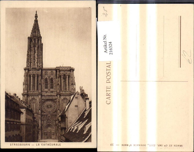 216324,Strasbourg Straßburg La Cathedrale Kathedrale Kirche  günstig online kaufen