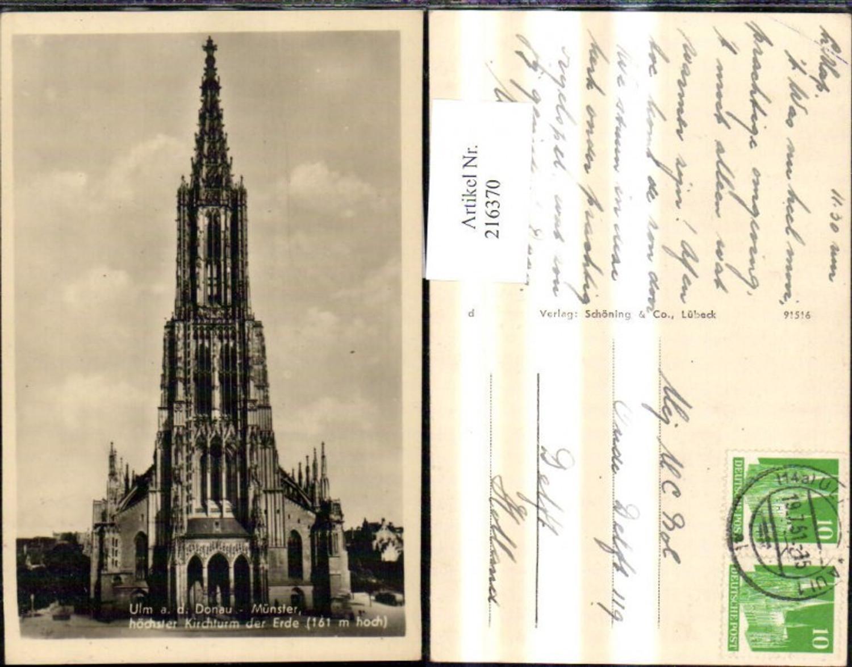 216370,Ulm a. d. Donau Münster Kirche Höchster Kirchturm d. Erde 161 Meter günstig online kaufen