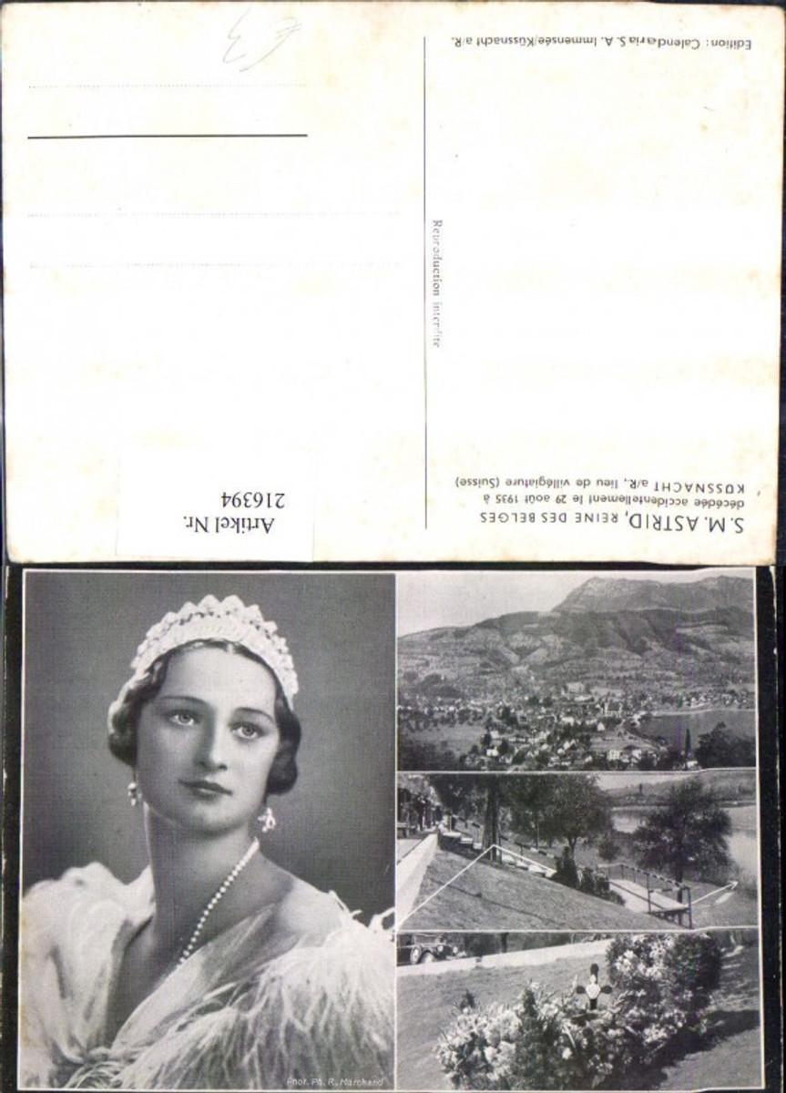 216394,S.M. Astrid Reine des Belges Mehrbild Ak Königin Astrid von Schweden Unfallort Küssnacht SZ günstig online kaufen