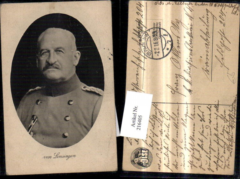 216405,Portrait Alexander von Linsingen Soldat Generaloberst Passepartout günstig online kaufen