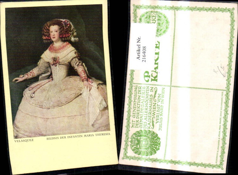 216408,Künstler Ak Velasquez Bildnis d. Infantin Maria Theresia  günstig online kaufen