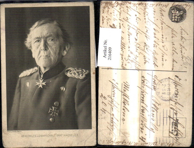 216409,Generalfeldmarschall Graf Haeseler Uniform Orden  günstig online kaufen