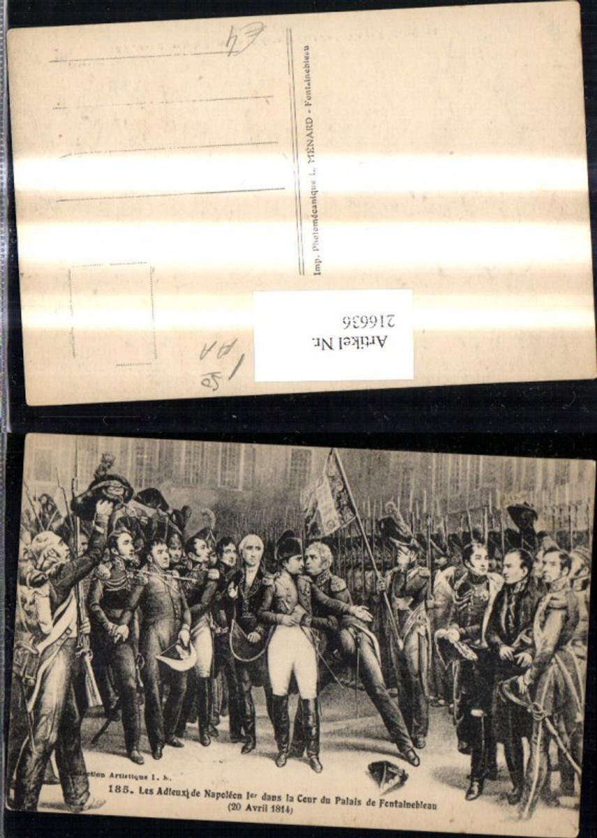 216636,Künstler Ak Napoleon Cour du Palais de Fentainebleau 1814 Soldaten Uniform Frankreich Revolution   günstig online kaufen