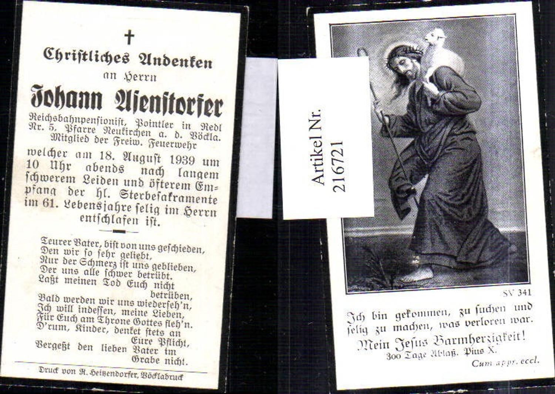 216721,Sterbebild Johann Asendorfer Neukirchen a. d. Vöckla Religion günstig online kaufen