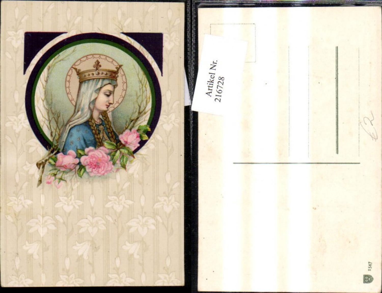 216728,Künstler Ak Maria Krone Heiligenschein Rosen Religion günstig online kaufen