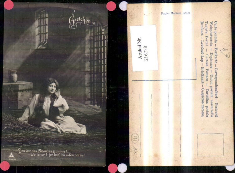 216758,Theater Musik Gretchen Frau Gefängnis Kerker Spruch Text  günstig online kaufen