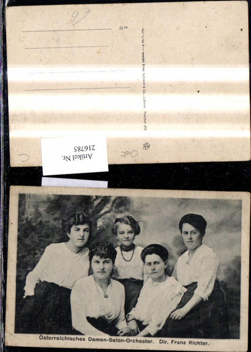 216785,Österreichisches Damen-Salon-Orchester Dir. Franz Richter Gruppenbild Musik günstig online kaufen