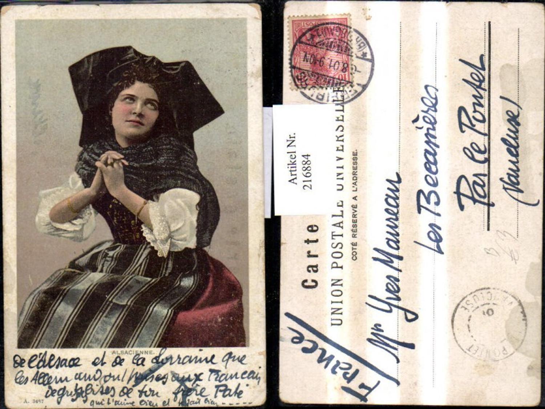 216884,Alsacienne Elsässer Tracht Frau Volkstracht Elsass Frankreich günstig online kaufen