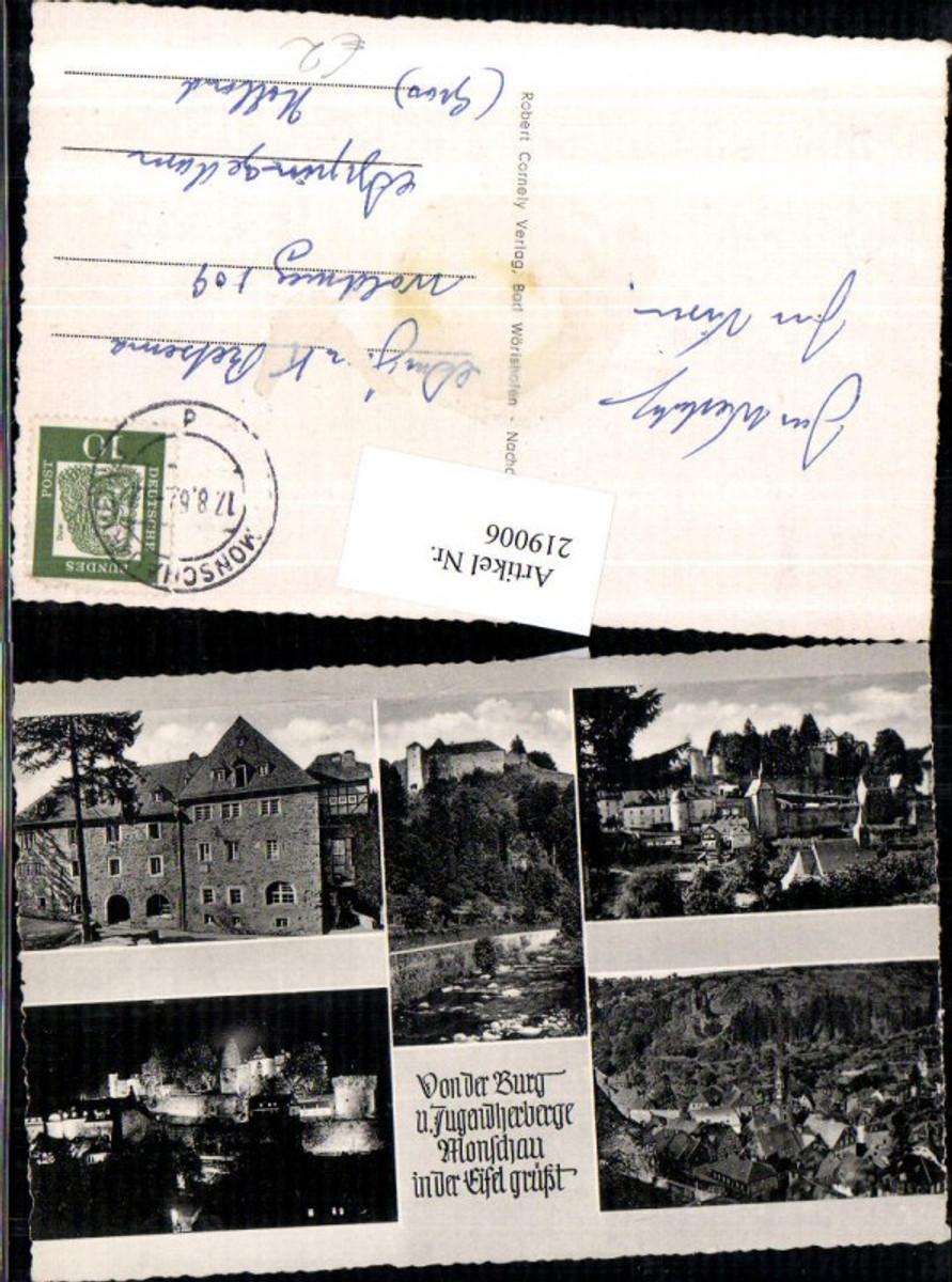 219006,Burg u. Jugendherberge Monschau i. d. Eifel Totale Mehrbildkarte günstig online kaufen