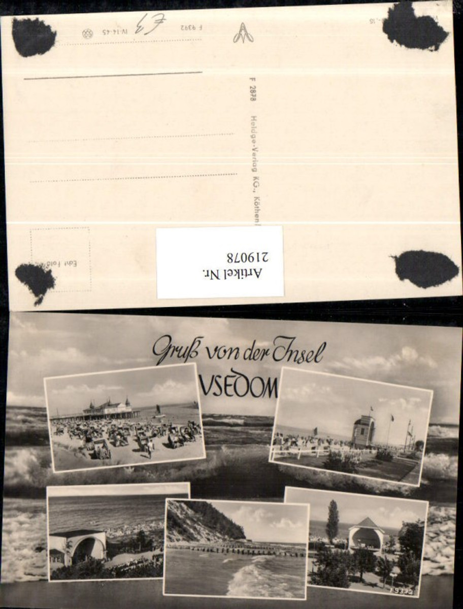 219078,Gruß von d. Insel Usedom Ahlbeck Bansin Heringsdorf Koserow Zinnowitz Mehrbildkarte günstig online kaufen