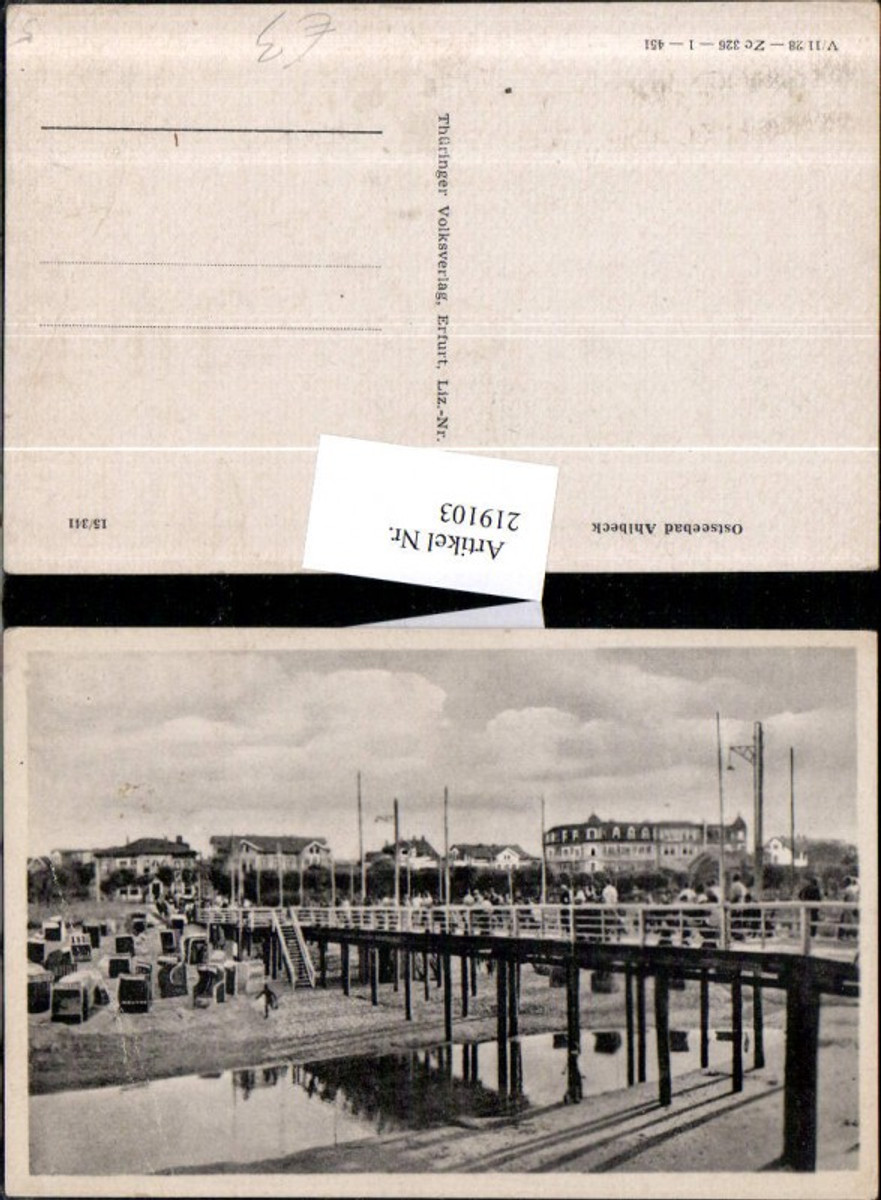219103,Ostseebad Ahlbeck Strand Strandkörbe Brücke günstig online kaufen