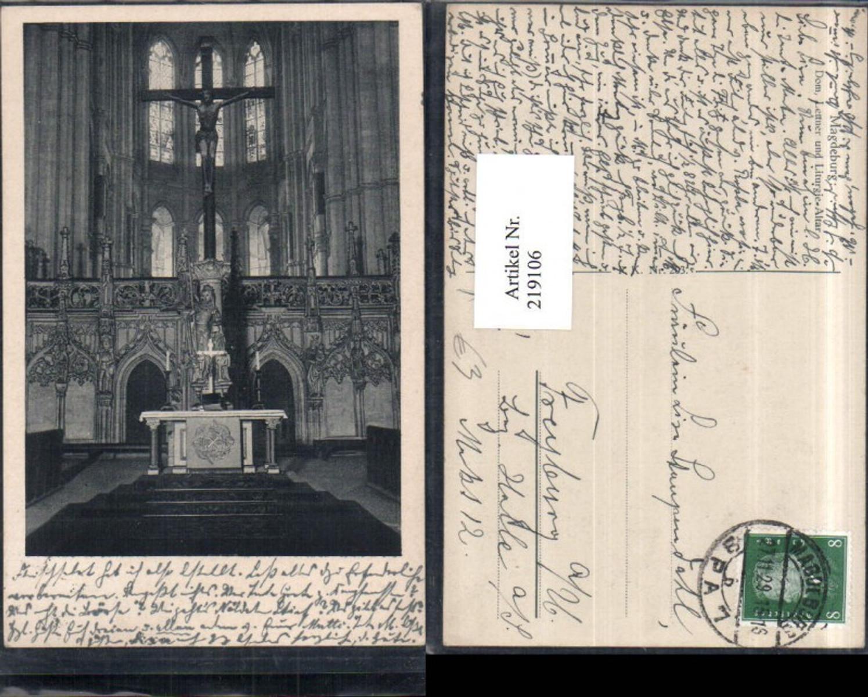 219106,Magdeburg Dom Lettner u. Liturgie-Altar Kirche Innenansicht günstig online kaufen