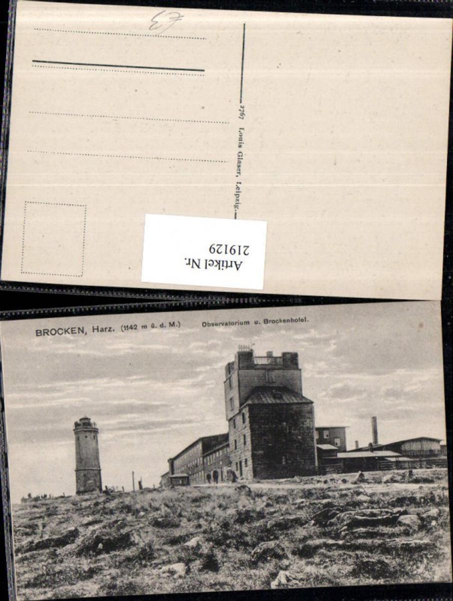 219129,Brocken im Harz Observatorium u. Brockenhotel b. Wernigerode günstig online kaufen