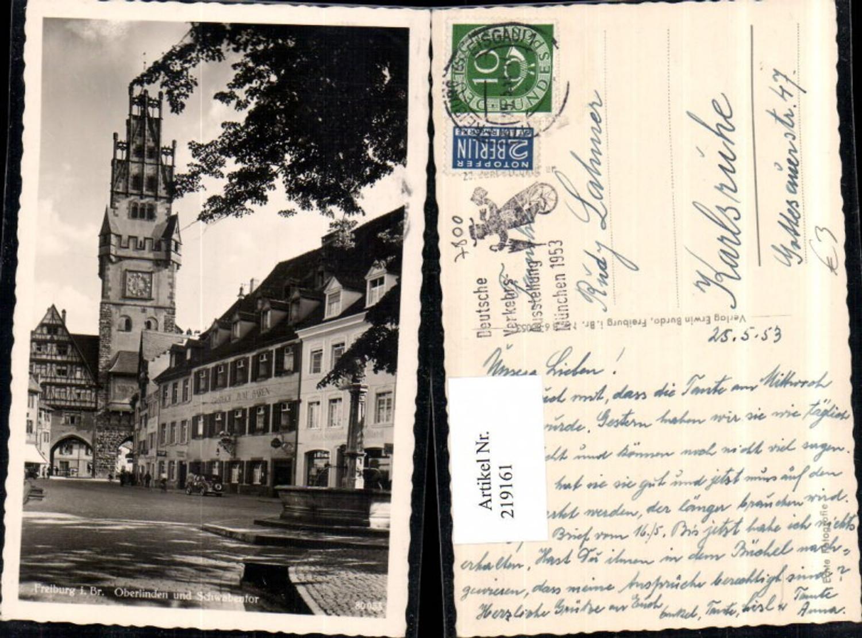 219161,Freiburg i. Breisgau Oberlinden u. Schwabentor Tor Brunnen Gasthof Zum Bären günstig online kaufen