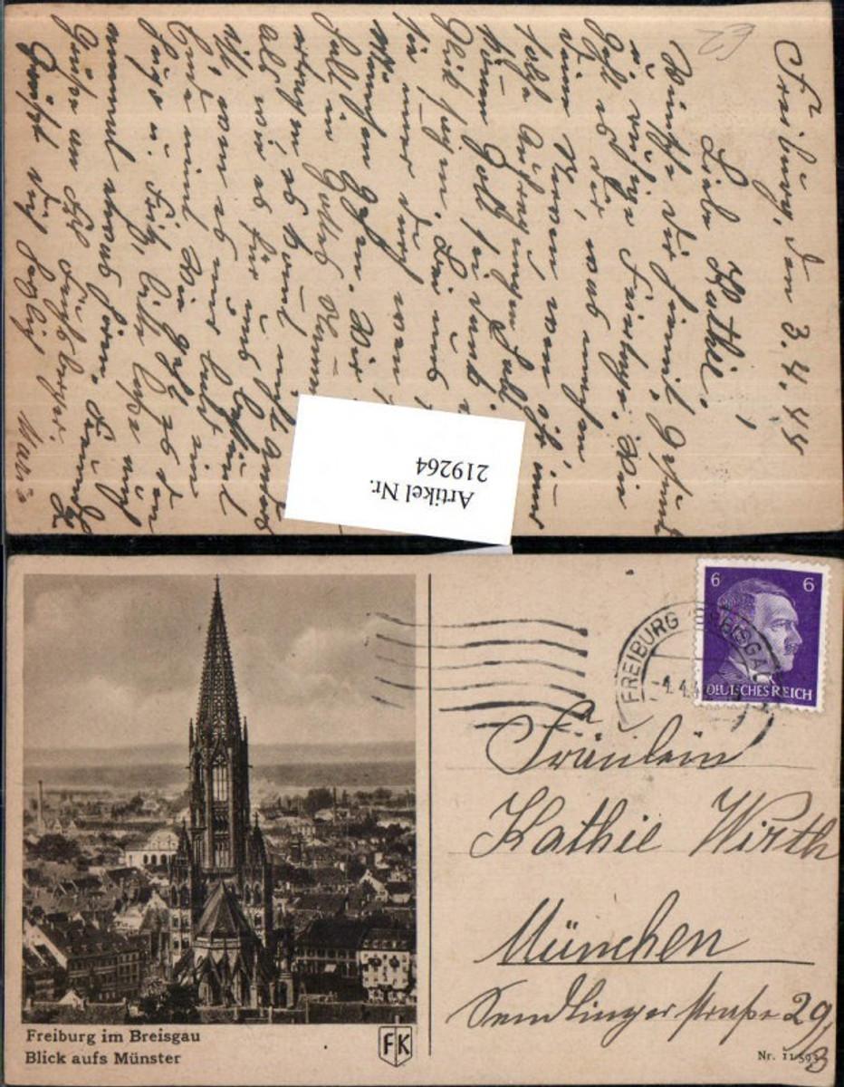 219264,Freiburg i. Breisgau Blick auf Münster günstig online kaufen