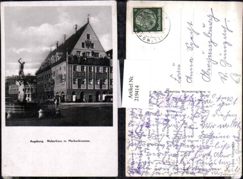 219414,Augsburg Weberhaus m. Merkurbrunnen Brunnen günstig online kaufen