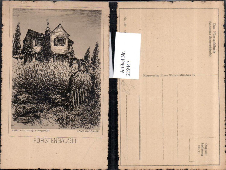 219447,Künstler AK Hans Kasbauer Annettes Fürstenhausle in Meersburg Original Radierung günstig online kaufen