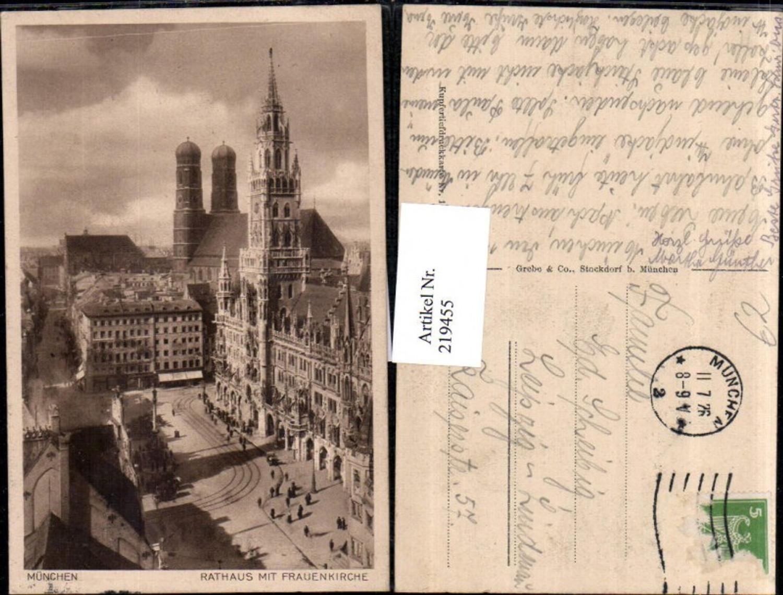 219455,München Rathaus m. Frauenkirche Kirche günstig online kaufen