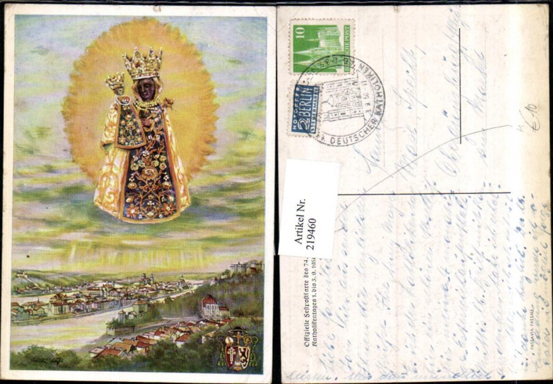 219460,Offizielle Festpostkarte des 74. Deutschen Katholikentages 1950 in Passau Totale Gnadenbild günstig online kaufen