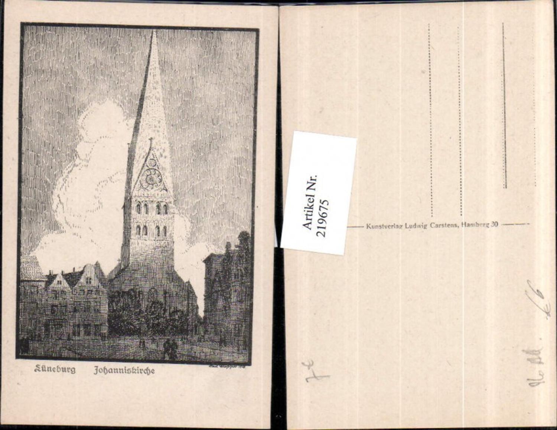219675,Künstler AK Lüneburg Johanniskirche Kirche günstig online kaufen