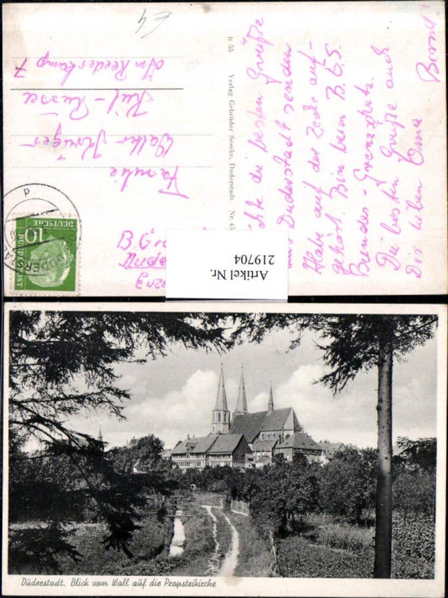 219704,Düderstadt Blick v. Wal auf d. Propsteikirche Kirche günstig online kaufen