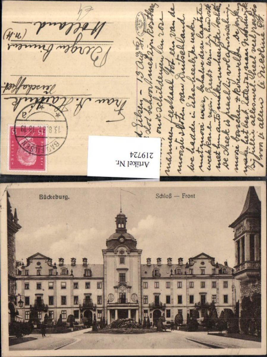 219724,Bückeburg Schloss Front günstig online kaufen