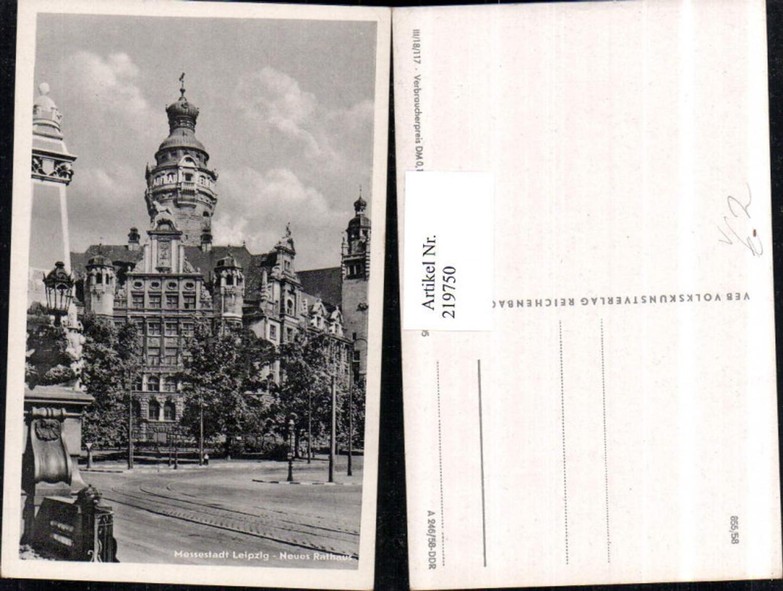 219750,Leipzig Neues Rathaus Turm pub VEB Volkskunstverlag 13/705 günstig online kaufen