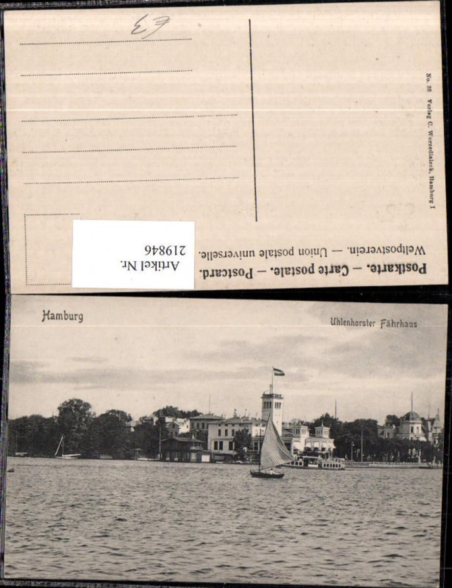 219846,Hamburg Uhlenhorster Fährhaus Segelboot günstig online kaufen
