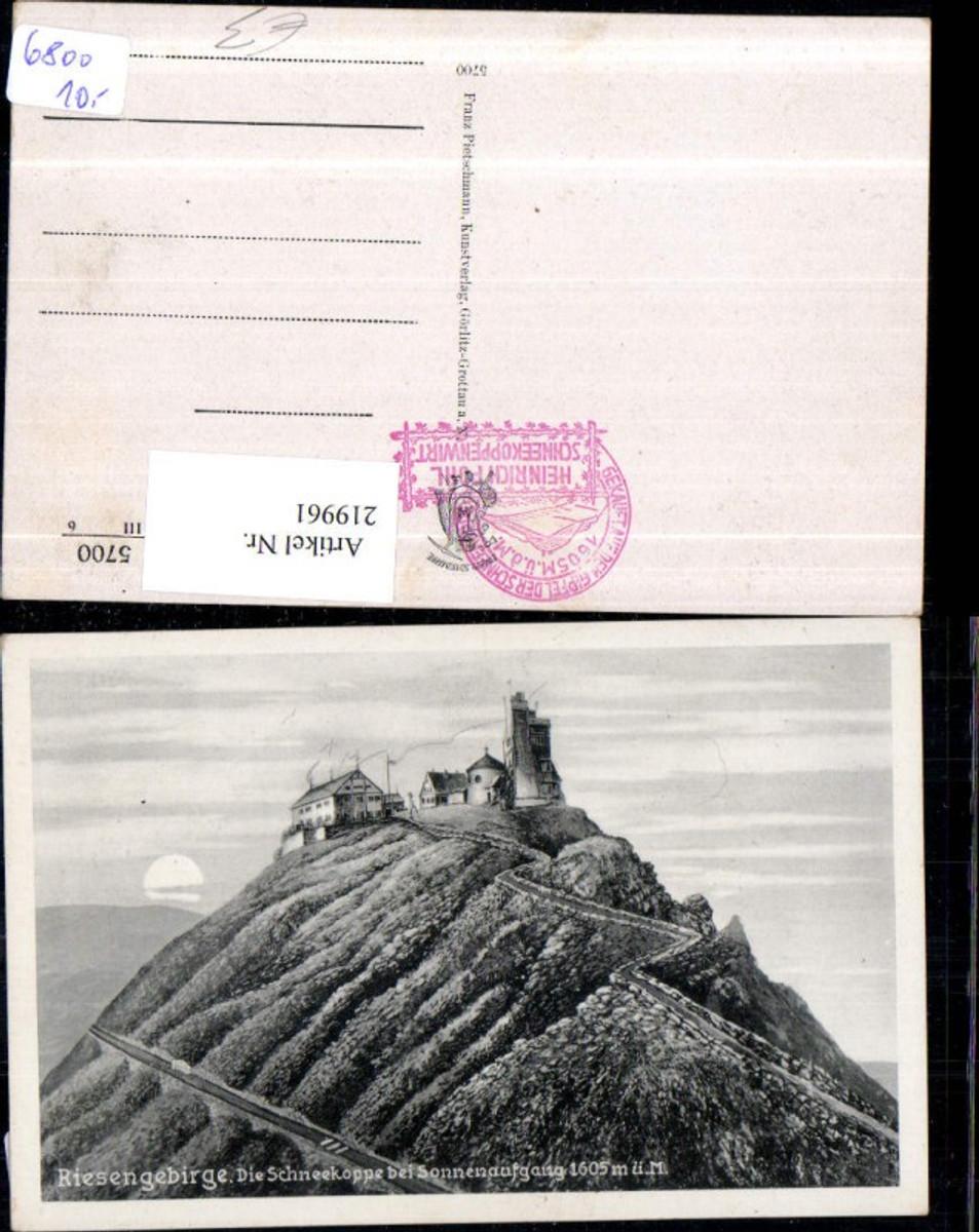 219961,Riesengebirge Krkonose Schneekoppe b. Sonnenaufgang günstig online kaufen